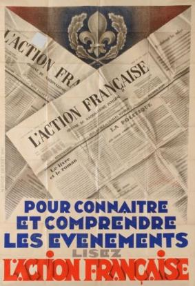 France Affiche_de_promotion_du_quotidien_l'action_francaise_(1931)